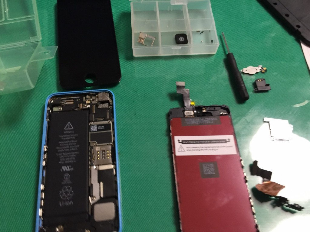 iphone5c液晶交換宮崎県北パソコン修理屋 (5)