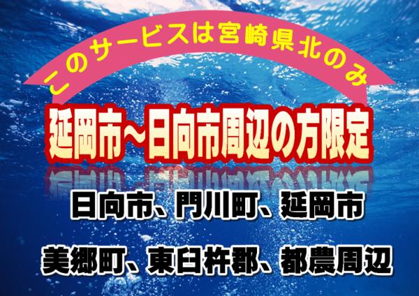 対応エリアは宮崎県北0982エリアのみ
